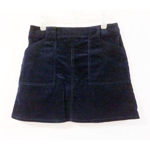 Urban Outfitters BDG Navy Corduroy A-line Skirt